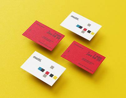 MOTTI business card design
