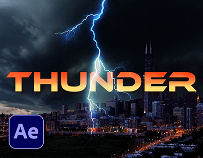Thunder / Cloud Lightning animation in after effect