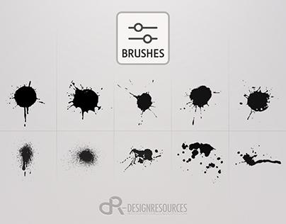 10 Drops & Splashes Brushes