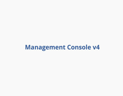 Management Console v4
