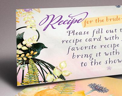 Birdcage Floral Bridal Shower Invitation Set (suite)