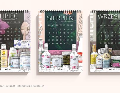 2018 calendar - nitai.pl - cosmetics wholesaler