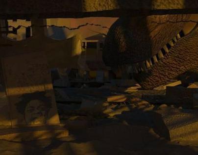 Tyrannosaurus Destroy Abandon City