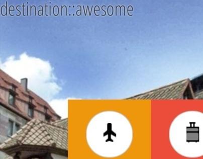 destination::awesome - mobile