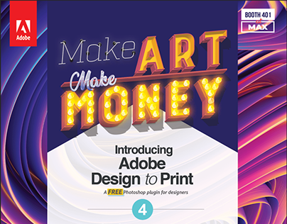 Adobe Design to Print - Flyer Design for Adobe MAX 2019
