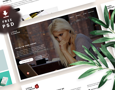 Freebie | Personal Portfolio Website Template