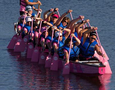 Dragon boats at Nathan Benderson Park