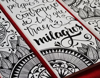 Tríptico ilustración + lettering