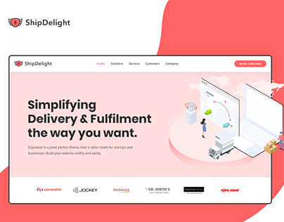 Website UI UX Designing for a Logistics Tech Company