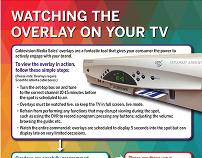 Cablevision Media Sales Overlay guide
