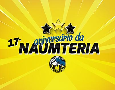 Identidade da festa ANIVERSÁRIO DA NAUMTERIA