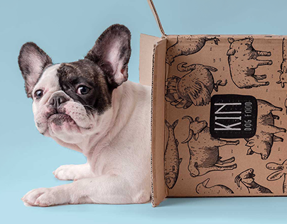 Kin Dog Food \ packaging illustration series
