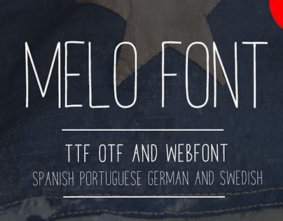 MELO FREE HANDMADE WEBFONT TTF AND OTF