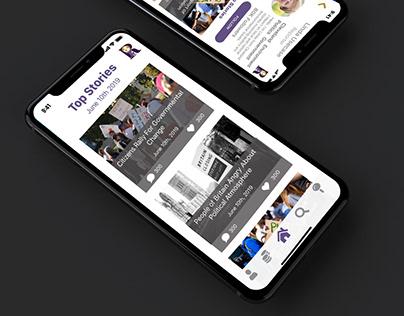 Rhetor News App Mockup
