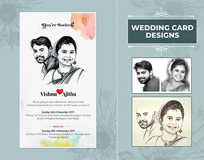 Wedding Card illustration Design