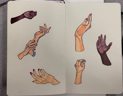 small hand studies 2/13