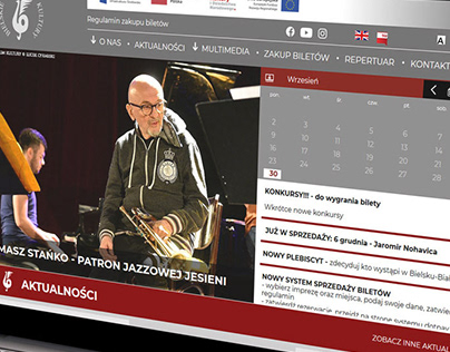 Strona internetowa Bielskie Centrum Kultury