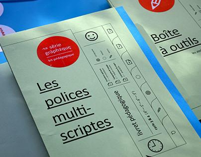 """Kit série graphique """" Les polices multiscriptes """""""