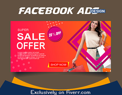 Creative Facebook Banner Ads Design .