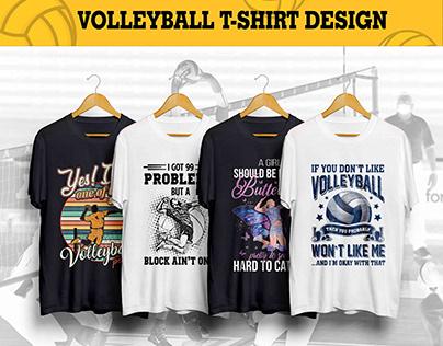 Volleyball T-shirt Design Bundle