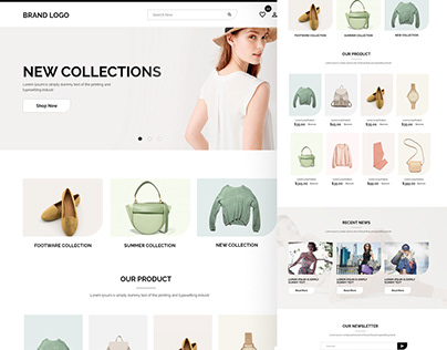 Shopify | Modern ecommerce website ux/ui design