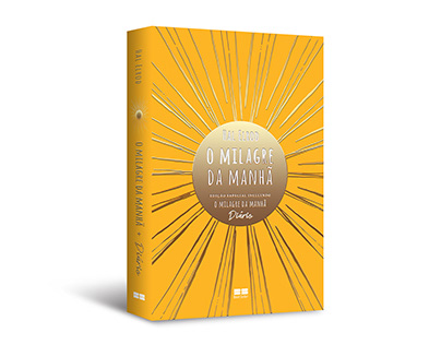 """Cover design of """"O milagre da manhã + Diário"""" hardcover"""