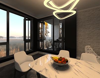 Modern Retro Black & White - interior design