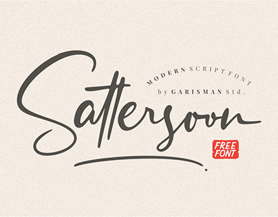 Sattersoon - Signature Font