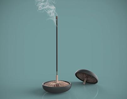 FUNGI Inspired incense holder | Branching algorithm