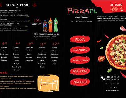 Projekt ulotki dla pizzerii PIZZAPL