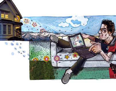 Collages for América Economía
