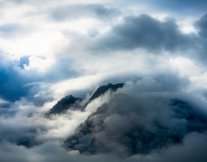 clouds, mountains and sunlight, Austria