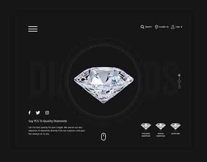 Mohit Diamonds - UI Design