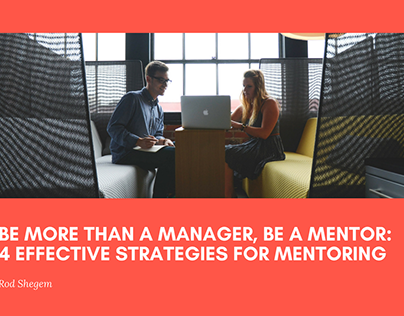 4 Effective Strategies for Mentoring