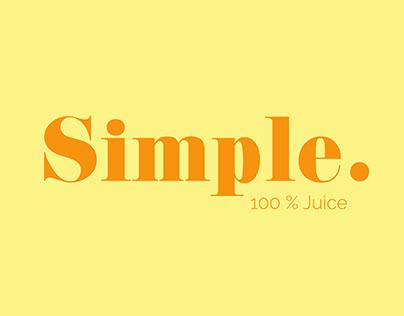Simple Juice Package Design