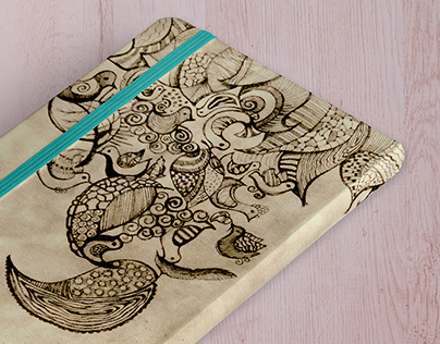 Doodling-Notebook cover