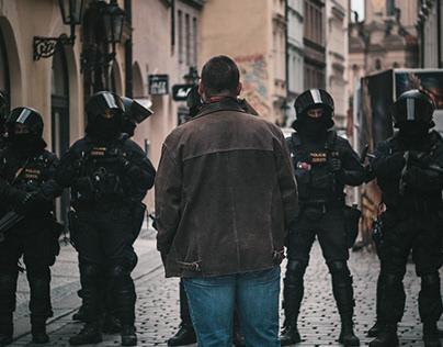 Prague Anti-Locdown COVID protests