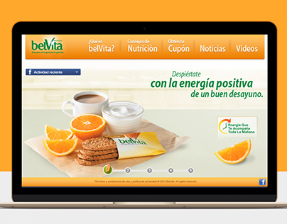 Belvita desayuna - Web Design