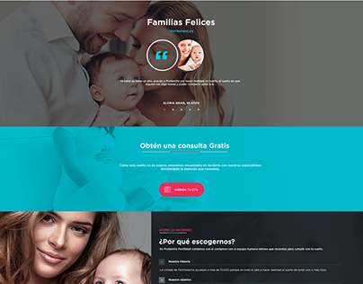 Profamilia Fertilidad- Propuesta de Landing Page.