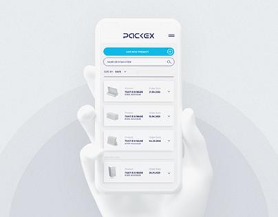 PACKEX | UI/UX Concept