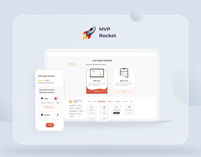 UX/UI project of MVP Rocket Web site