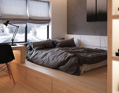Modern Bedroom - ArchViz