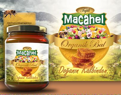Macahel Bal Kavanoz Etiket Tasarımı