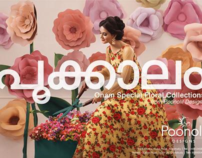 Onam Special Floral Collection @ Poonolil Designs