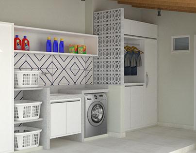 Projeto Área de Serviço (Lavanderia + Cozinha Externa)