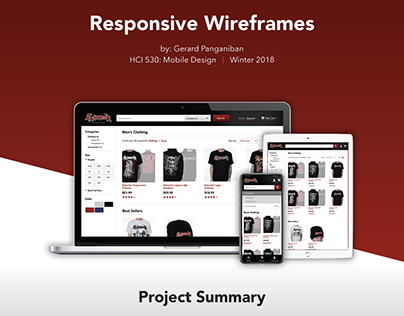 HCI530 Mobile Design Assignment - Responsive Wireframes