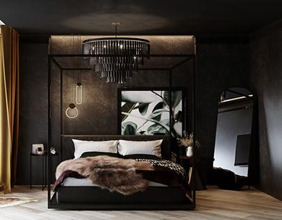 Dark Comfort. Bedroom