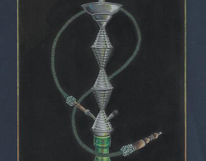 Segunda Ilustração, lápis de cor e giz pastel.