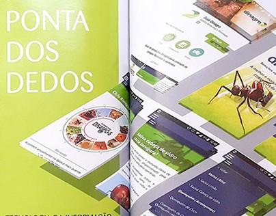 """Editorial Design - """"Na Ponta dos Dedos"""""""