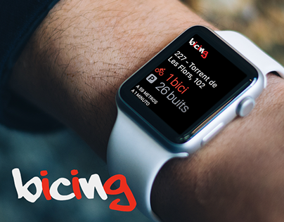 Bicing - Apple Watch App Concept